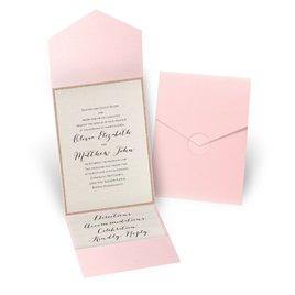Glitter Elegance - Rose Gold Glitter - Pink Pocket Invitation