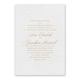 Absolutely Classic - White - Invitation