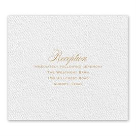 Wedding Reception and Information Cards: 