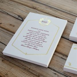 Regal Style - Gold - Letterpress and Foil Invitation