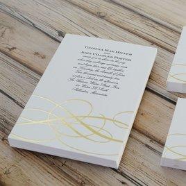 Adagio - Gold - Letterpress and Foil Invitation