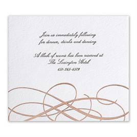 Adagio - Rose Gold - Letterpress and Foil Information Card
