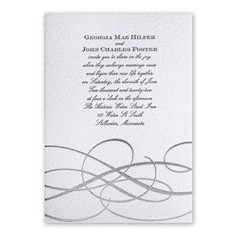 Adagio - Silver - Letterpress and Foil Invitation