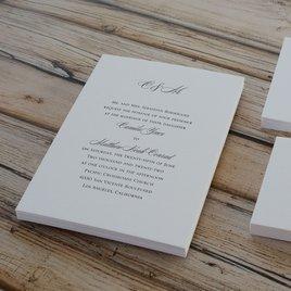 Pure Sophistication - Letterpress Invitation