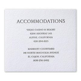 Wedding Reception and Information Cards: Modern Minimalist Letterpress Information Card