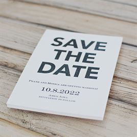 One Fine Date - White - Save the Date