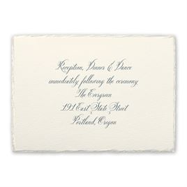 Wedding Reception and Information Cards: Rosewater Deckle Reception Card