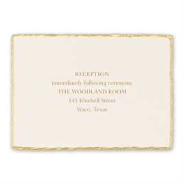 Wedding Reception and Information Cards: Jeweled Deckle Reception Card