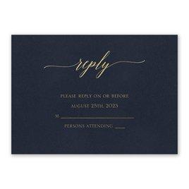 Wedding Response Cards: Navy Brilliance - Foil Response Card