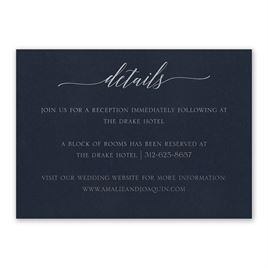 Navy Brilliance - Silver - Foil Reception Card