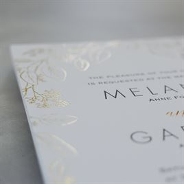 Verdure - Gold - Letterpress and Foil Invitation