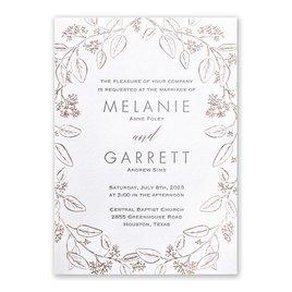 Verdure - Rose Gold - Letterpress and Foil Invitation