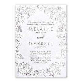 Verdure - Silver - Letterpress and Foil Invitation