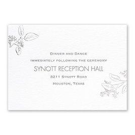 Verdure - Silver - Letterpress and Foil Reception Card