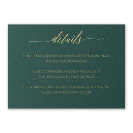 Wedding Reception and Information Cards: Hunter Brilliance - Foil Reception Card