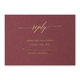 Wedding Response Cards: Burgundy Brilliance - Foil Response Card