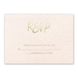 Blush Beauty - Gold - Foil Response Card