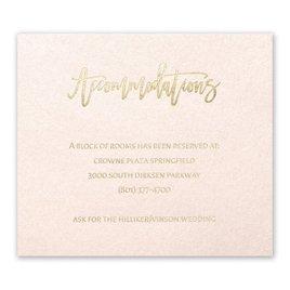 Blush Beauty - Gold - Foil Information Card