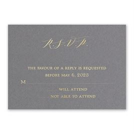 Love Story - Gold - Foil Response Card