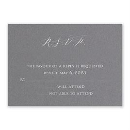 Love Story - Silver - Foil Response Card