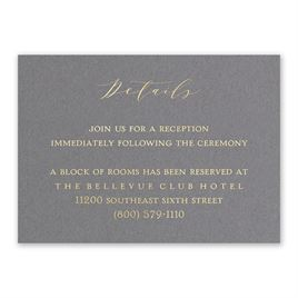 Love Story - Gold - Foil Reception Card