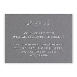 Love Story - Silver - Foil Reception Card
