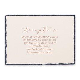 Delicate Deckle - Rose Gold - Foil Reception Card