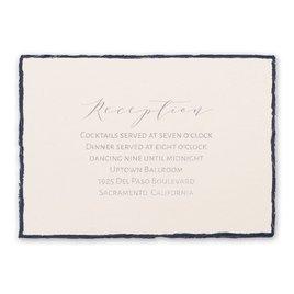 Delicate Deckle - Silver - Foil Reception Card