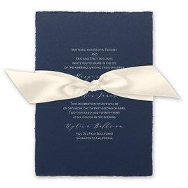 Delicate Deckle - Silver -  Foil Invitation
