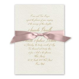 Wedded Bliss - Ballet - Ecru Invitation