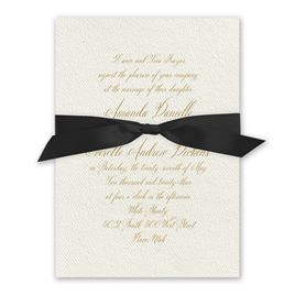 Wedded Bliss - Black - Ecru Invitation