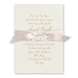 Wedded Bliss - Blush - Ecru Invitation