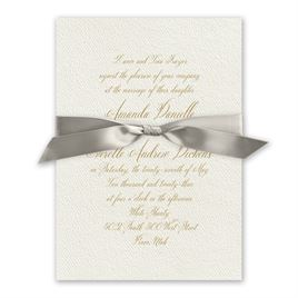 Wedded Bliss - Greige - Ecru Invitation