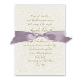 Wedded Bliss - Hydrangea - Ecru Invitation