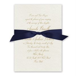 Wedded Bliss - Navy - Ecru Invitation