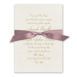 Wedded Bliss - Rose - Ecru Invitation