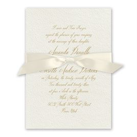 Wedded Bliss Ecru Invitation