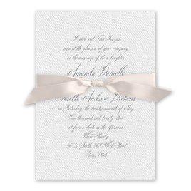 Wedded Bliss - Blush - White Invitation