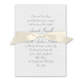 Wedded Bliss - Ecru - White Invitation