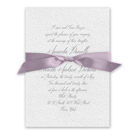 Wedded Bliss - Hydrangea - White Invitation