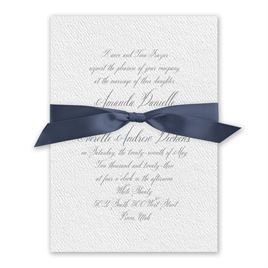 Wedded Bliss White Invitation