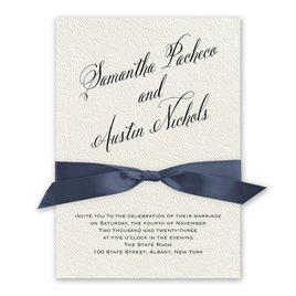 Fresh Angle - Steel Blue - Ecru Invitation