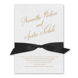 Fresh Angle - Black - White Invitation