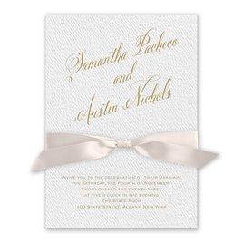 Fresh Angle - Blush - White Invitation