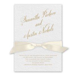 Fresh Angle - Ecru - White Invitation