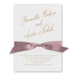 Fresh Angle - Rose - White Invitation