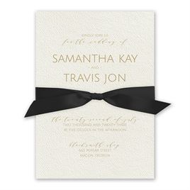 Modern Elegance - Black - Ecru  Invitation
