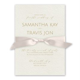 Modern Elegance - Blush - Ecru  Invitation