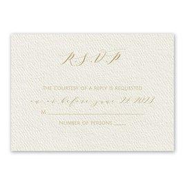 Wedding Response Cards: Modern Elegance Ecru Response Card