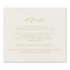 Wedding Reception and Information Cards: Modern Elegance Ecru Information Card
